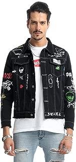 PIZOFF Mens Hipster Washed Denim Jacket