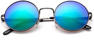 John Lennon 48mm Sunglasses for Kids Teens Vintage Round Circle Lens Flash Lens Spring Hinge