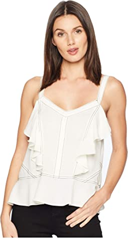 Ruffled Cami w/ Contrast Stitching