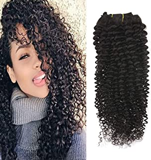 """Full Shine 12"""" 7 Pcs 100g Curly Hair Clip Ins For African Hair Extensions American Women Natural Hair Full Head Clip In Re..."""
