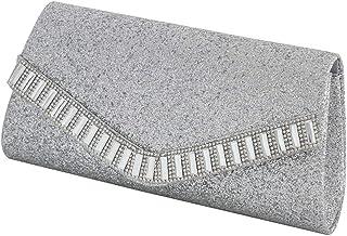 Dolity Glitter Flap Envelope Clutch Bag Women's Evening Party Bag Crossbody Chain