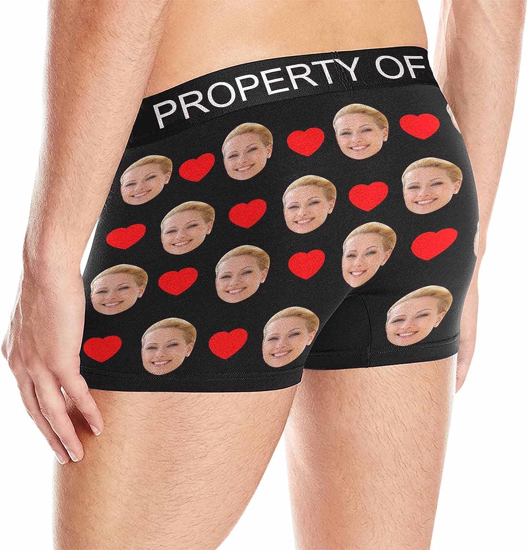 Custom Face Boxers Mine Personalized Face Briefs Underwear for Men