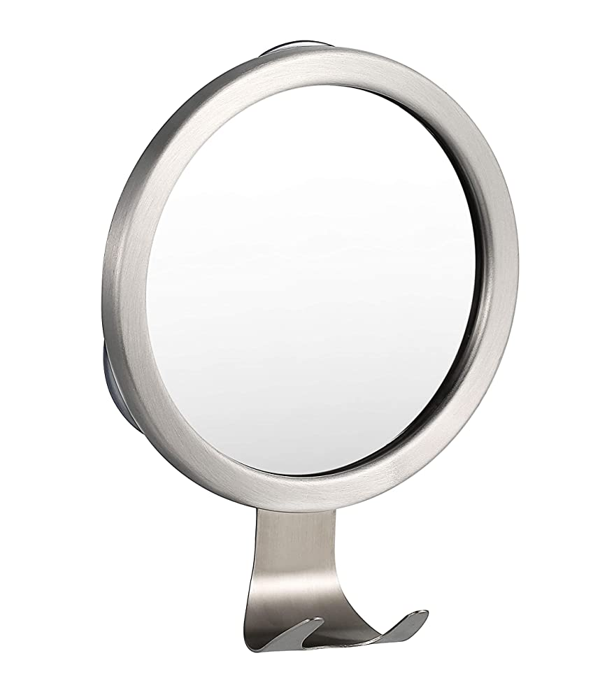 Ettori Fog-Free Shower Mirror Bathroom Fogless Shaving Bathtub Power Lock Suction