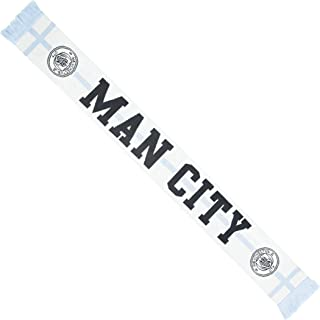 OTS English Premiership Manchester City Men's Silas Scarf, White, One Size