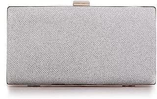Womens Vintage Envelope Clutch Silver Evening Handbag For Cocktail/Wedding/Party
