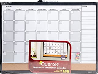 Quartet Dry Erase Board / Cork Board, Calendar Board, Magnetic, 17