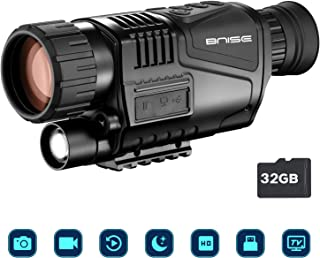 Monocular infrarrojo de visión Nocturna en HD de 8x40 con cámara Digital; reproducción de Video; Salida USB; para Caza y Vida Silvestre. Distancia de visión de 150 m en la Oscuridad;