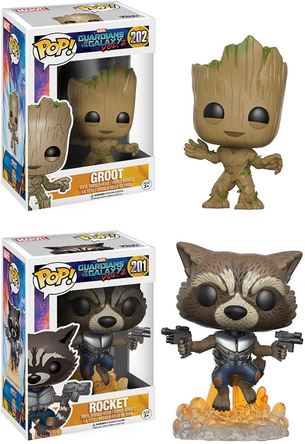 venta al por mayor barato Funko POP POP POP  Guardians Of The Galaxy Vol. 2  Groot + Rocket - Marvel Vinyl Bobble-Head Figura Set NEW  gran selección y entrega rápida