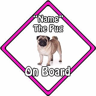 Auto Sicherheitsschild mit Aufschrift 'Dog On Board', Pink