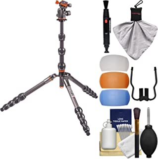 3 Legged Thing Eclipse Albert Carbon Fiber Tripod with AirHed 360 (Grey) with Flash Diffusers + Cleaning Kit