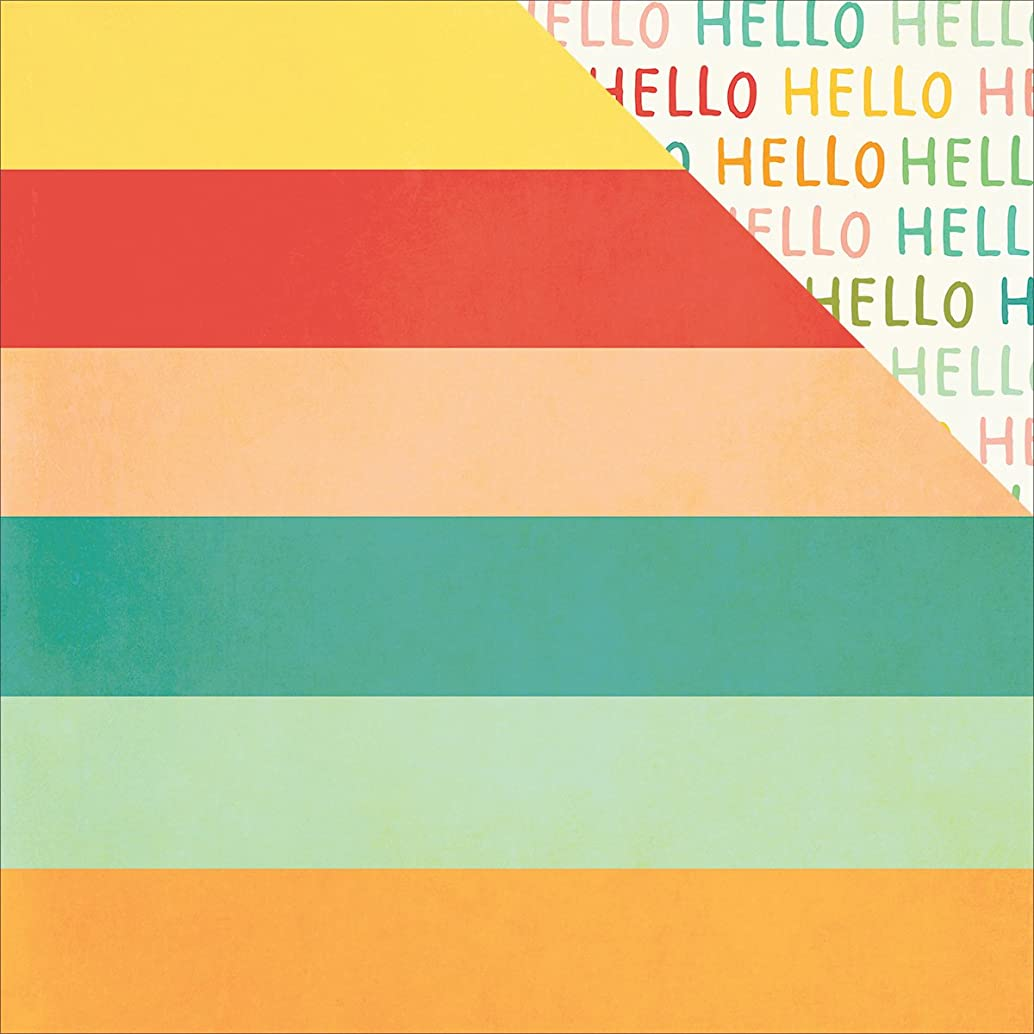 Simple Stories Summer Vibes Double, Sided Cardstock, 25 Sheets, 12
