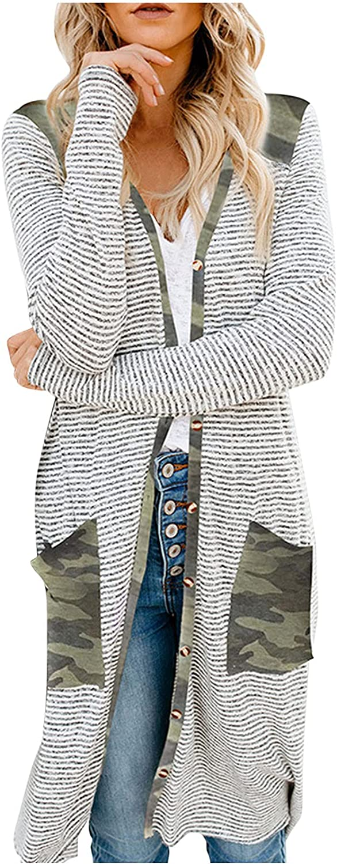Cardigan Sweaters Women's Fashion Street Long Sleeve Mid-Length Printed Casual Cardigan Coat