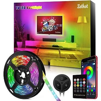 Retroilluminazione LED per TV, Strisce LED 11,5ft (3,5 M) per TV 40-65 pollici, Controllo Bluetooth con Sincronizzazione musica, Kit di luci LED TV con illuminazione diagonale USB con telecomando