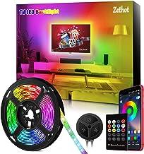 Tira LED TV de 11.5 pies(3.5M), sincronización de control Bluetooth TV de 40-65 pulgadas con música, Kit de luces LED de TV con mando a distancia, alimentación por USB.
