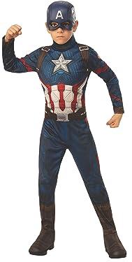 Rubie's Marvel: Avengers Endgame Child's Captain America Costume & Mask, Large