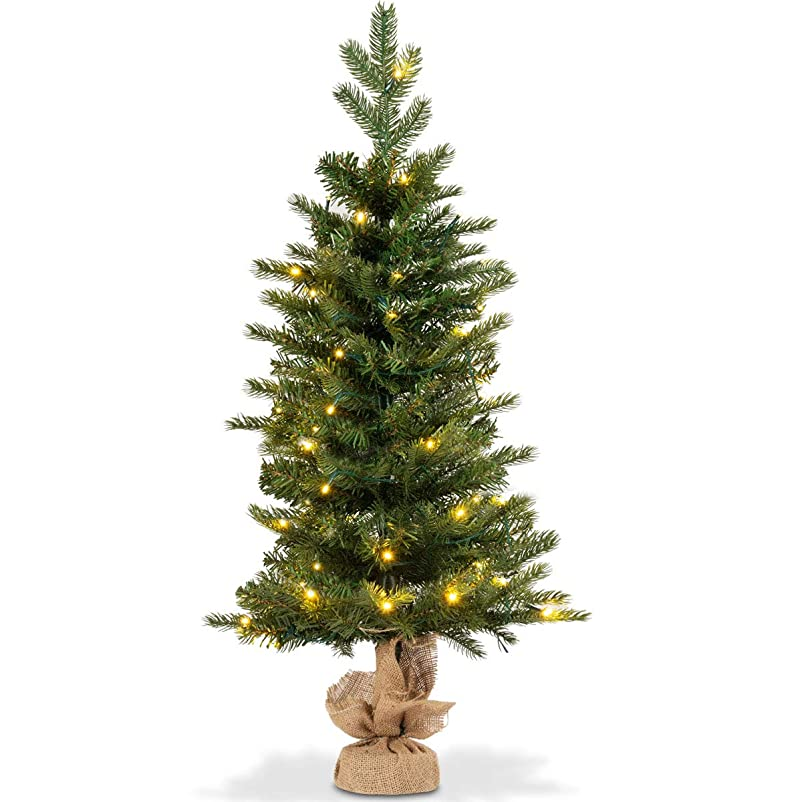 儀式しかし宿命Costway ミニ クリスマスツリー 高さ90cm LEDライト付き タイムスイッチ付き Christmas tree クリスマス飾り グリーン