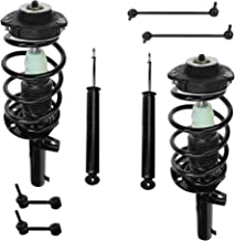 Detroit Axle - 8PC Complete Front Struts & Coil Springs and Rear Absorber Shocks w/Sway Bars Assembly for 2006 2007 2008 2009 VW Passat - [2006-09 VW Rabit] - 2010-13 VW Golf - [2005-10 VW Jetta]