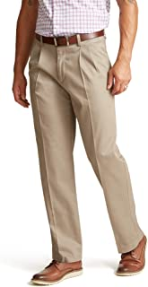 Men's Relaxed Fit Signature Khaki Lux Cotton Stretch Pants - Pleated