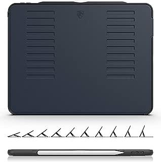 ZUGU CASE - iPad Pro 12.9 ケース 2018 第3世代 The Muse Case Apple Pencil 収納可能 極薄 落下衝撃保護 10段階スタンド機能 便利なペンホルダー付き ワイヤレス充電対応 オートスリープ スマートカバー (ブラック)