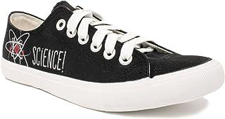 Science!   Geeky Cute, Nerdy Canvas Gym Tennis Shoe, Teacher Nerd Funny Sneaker