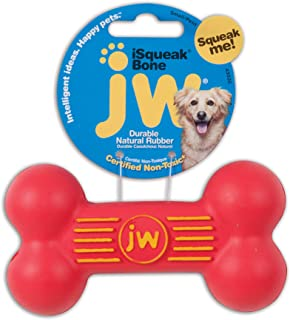 JW Pet iSqueak Bone Small, Assorted Red, Green, Blue