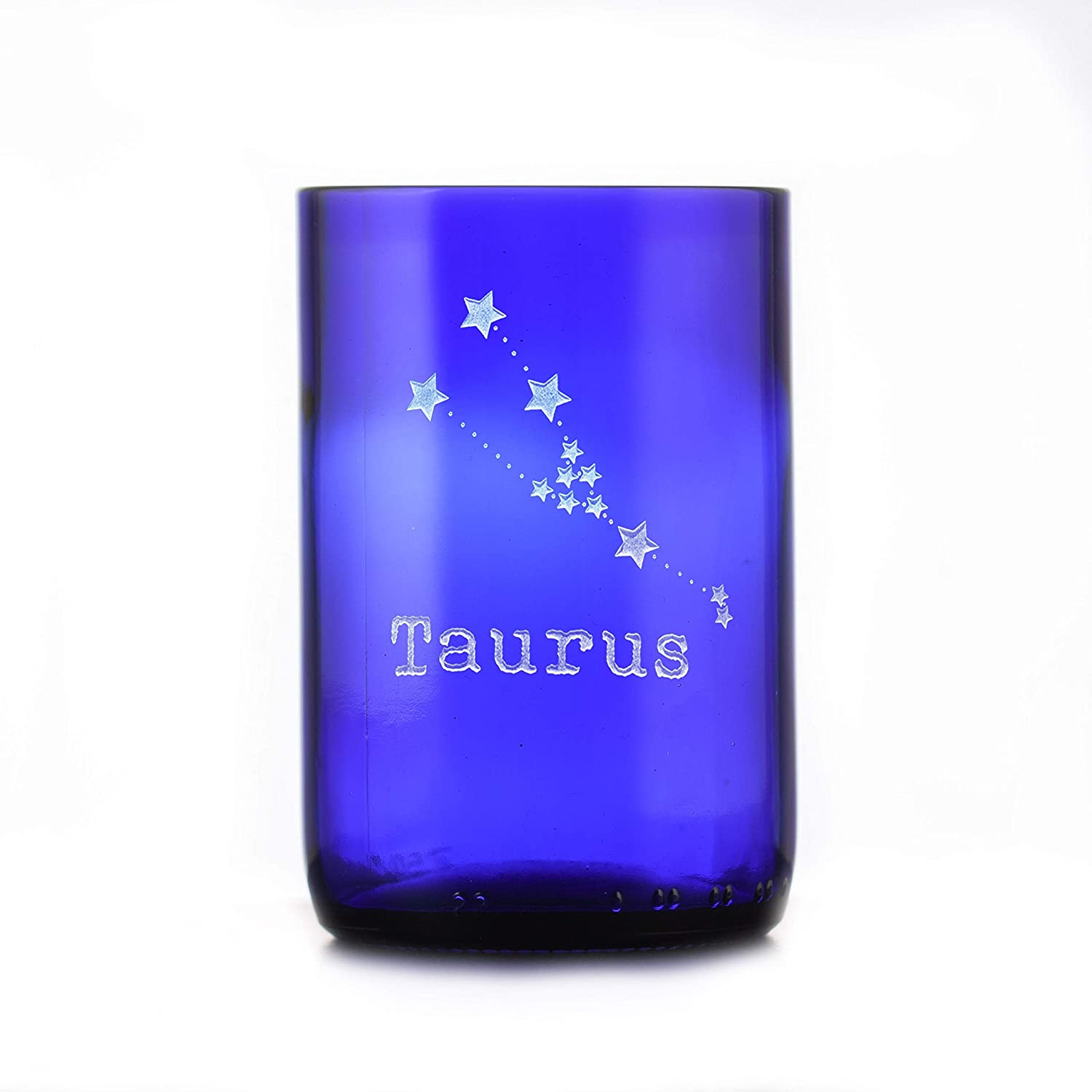 Constellation Zodiac Engraved 35% OFF Blue 67% OFF of fixed price Recycled Glass Wine S Bottle