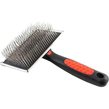 Paw Brothers Slicker Dog and Cat Grooming Brush for Professional Pet Groomers - Easy To Use - Comfortable - Removes Long and Loose Hair
