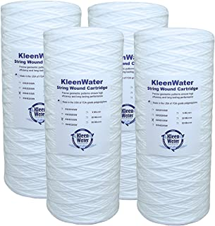 Includes O-Ring GE GXWH04F GXWH20F GXWH20S Compatible Filter Multi-Pack Qty 3 KleenWater 2.5 x 10 Inch Replacement Melt Blown Water Filter Cartridges 20 Micron