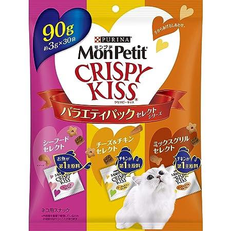 モンプチ クリスピーキッス バラエティパック セレクトシリーズ 90g (3g×30袋)