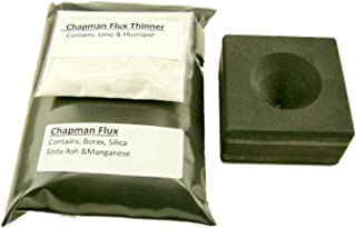 Conical Mold + 1Lb Chapman Flux & Free Thinner- Assy Gold Silver Black Sand Cone