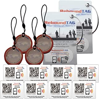 ReboundTAG Premium Travel Pack - Connect and Protect All Of Your Valuables With Smart Luggage Tags - ProtectorTAGs - AdhesiveTAGs