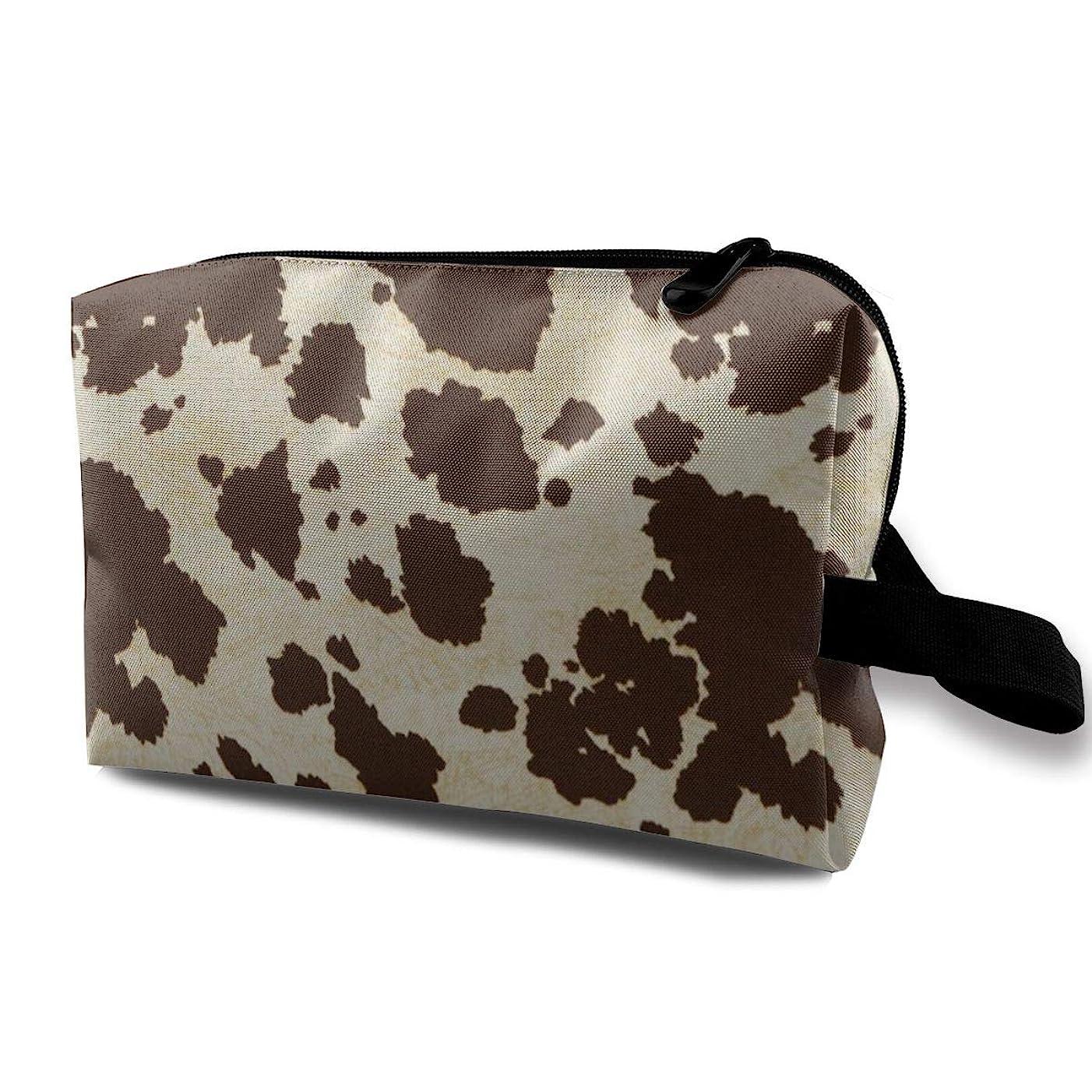 きゅうり退屈な遠え大きな牛の毛皮のプリントパターン 化粧バッグ 収納袋 女大容量 化粧品クラッチバッグ 収納 軽量 ウィンドジップ