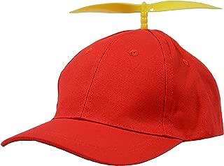 Halloween Tweedle Dee Tweedle Dum Hats for Adults, Red Propeller Hat for Adults
