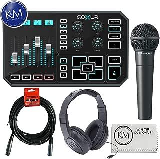 TC-Helicon GO XLR Broadcast Platform + Behringer XM8500 Microphone + Headphones + 20ft XLR Cable + K&M Cloth