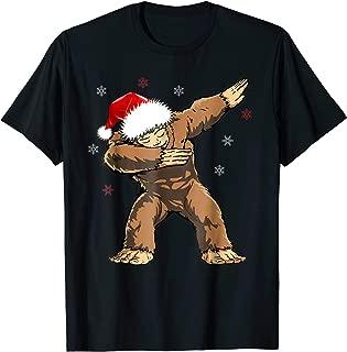 Dabbind Bigfoot Santa Shirt Christmas Yeti Dab Sasquatch