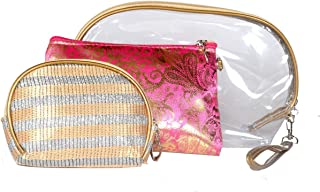 Color Fever Women's Multi Purpose Makeup Bag, Pink Gold
