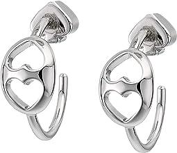 Duo Link Small Hoops Earrings