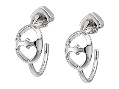 Kate Spade New York Duo Link Small Hoops Earrings (Silver) Earring