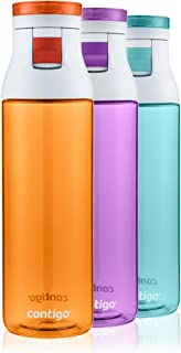 Contigo Jackson Water Bottles, 24oz, Tangerine/Radiant Orchid/Grayed Jade, 3-Pack
