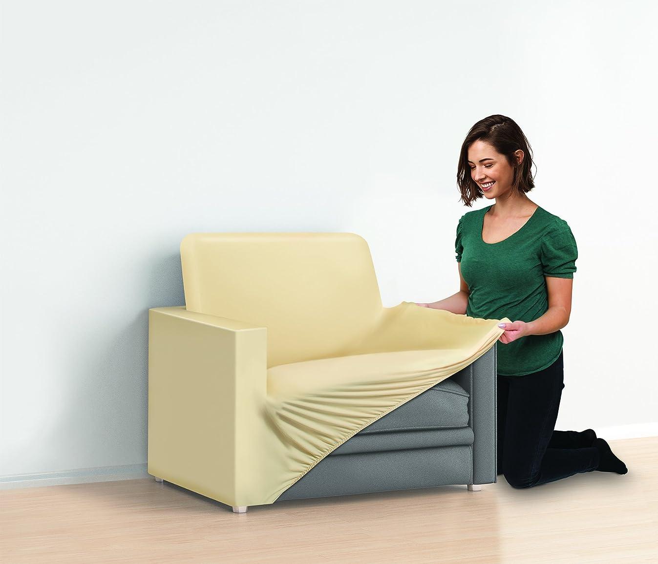 Jobar Slip Couch Cover 1 Cushion Chair, Beige
