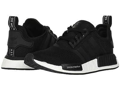 adidas Originals Kids NMD_R1 J (Big Kid) (Black/Orchid) Girls Shoes