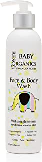 Gentle Baby Face & Body Wash (8oz) by ResQ Organics - Eczema, Diaper Rash, Cradle Cap Dermatitis Treatment– pH Balanced, Safe and Effective For Infant Skin