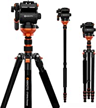 GEEKOTO 79 Inches Carbon Fibre Video Tripod with 1/4