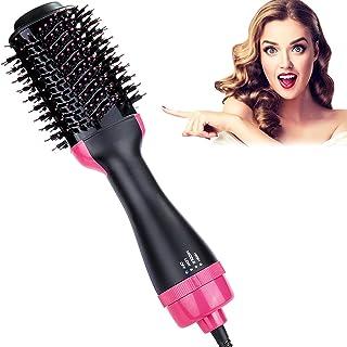 برس هوای گرم HiEHA ، سشوار و ولومیزر یک مرحله ای ، برس سشوار 3 در یک مو ، استیکر مو ، منفی برقی موی یون برقی برای صاف کردن ، پیچش یا حل کردن ، خشک کردن ، کاهش Frizz و استاتیک