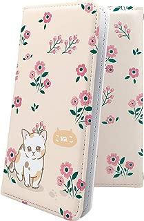 AQUOS Compact SH-02H ケース 手帳型 子猫 ねこ 猫 猫柄 にゃー アクオス コンパクト 手帳型ケース 花柄 花 フラワー SH02H AQUOSCompact 女の子 女子 女性 レディース