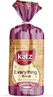 Katz Gluten Free Everything Bread | Dairy, Nut, Soy and Gluten Free | Kosher (1 Pack of 1 Sliced Loaf, 18 Ounce)