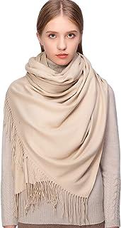 RIIQIICHY Hiver Chaud Écharpe Pashmina Châle Wrap Pour Femmes et Hommes Longues Grandes Écharpes Douces