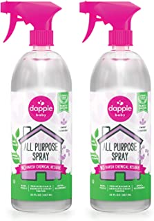 Dapple All Purpose Spray, Lavender, 30 Ounce Spray Bottle (Pack of 2), Plant-Based, Hypoallergenic, Cleaning Spray
