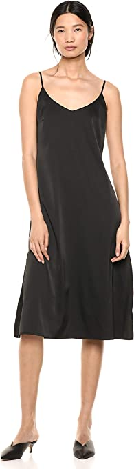 The Drop Women's Ana Silky V-Neck Midi Slip Dress