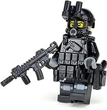 Battle Brick Police SWAT Tactical Assault Officer M4 Carbine (SKU49) Custom Minifigure